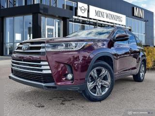 Used 2017 Toyota Highlander Limited Accident Free! Local! New Tires! for sale in Winnipeg, MB