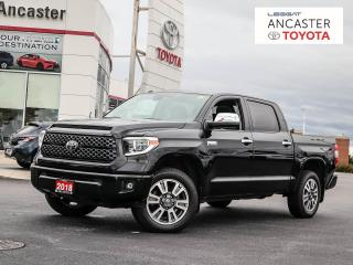 Used 2018 Toyota Tundra Platinum 5.7L V8 5.7L PLATINUM | CREWMAX | 5.5FT BOX for sale in Ancaster, ON