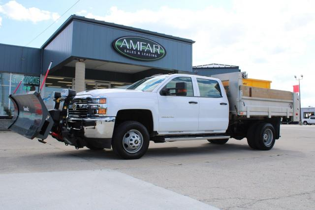 2017 Chevrolet Silverado 3500 HD CREW PLOW AND DUMP AND SALTER