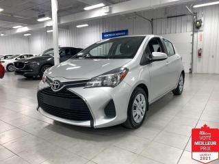 Used 2016 Toyota Yaris LE - A/C + GR ELECTRIQUE + JAMAIS ACCIDENTE !!! for sale in Saint-Eustache, QC