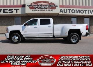 Used 2019 Chevrolet Silverado 3500HD HIGH COUNTRY CREW DUALLY DURAMAX 4X4 for sale in Headingley, MB