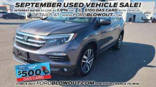 Used 2017 Honda Pilot Touring - AWD, REAR LCD, HEAT/COOL LEATHER for sale in Kingston, ON