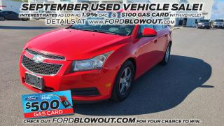 Used 2014 Chevrolet Cruze LT - HEATED LEATHER, MOON ROOF, REMOTE START for sale in Kingston, ON
