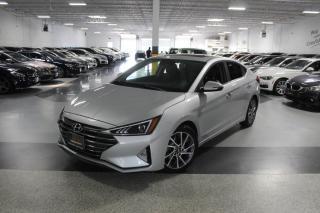 Used 2019 Hyundai Elantra LUXURY I LEATHER I SUNROOF I R.AM I CARPLAY I BLINDSPOT for sale in Mississauga, ON