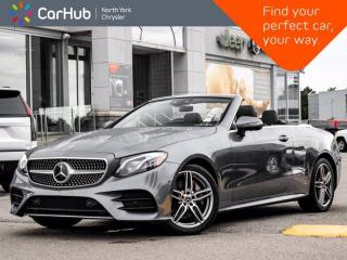 Used 2018 Mercedes-Benz E-Class E 400 4MATIC Cabriolet Heated & Vented Massage Seats Burmester for sale in Thornhill, ON