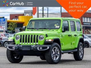 New 2021 Jeep Wrangler Unlimited Sahara 4x4 Hard Top Navigation Bluetooth 4G LTE Wi Fi Hot Spot Leather 18