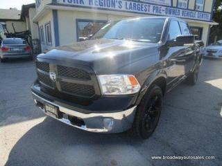 Used 2018 Dodge Ram 1500 LOADED OUTDOORSMAN-EDITION 5 PASSENGER 3.0L - ECO-DIESEL.. 4X4.. CREW-CAB.. SHORTY.. NAVIGATION.. LEATHER.. HEATED SEATS & WHEEL.. BACK-UP CAMERA.. for sale in Bradford, ON