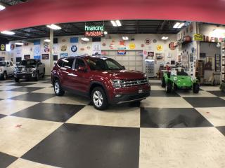 Used 2018 Volkswagen Atlas COMFORTLINE AWD V6 7 PASS LEATHER H/SEATS CAMERA for sale in North York, ON