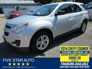 Used 2014 Chevrolet Equinox LS *Clean Carfax* Certified w/ 6 Month Warranty for sale in Brantford, ON