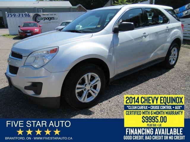 2014 Chevrolet Equinox LS *Clean Carfax* Certified w/ 6 Month Warranty