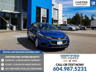 Used 2018 Chevrolet Cruze LT Auto HEATED FRT SEATS - BLUETOOTH - BACKUP CAM for sale in North Vancouver, BC