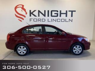 Used 2009 Hyundai Accent AUTO GL for sale in Moose Jaw, SK