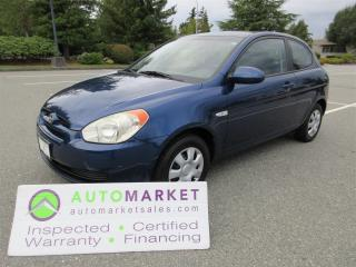 Used 2007 Hyundai Accent SE 3-Door 5 Speed FINANCE Or LEASE NO CREDIT REQUIRED! WARRANTY for sale in Surrey, BC