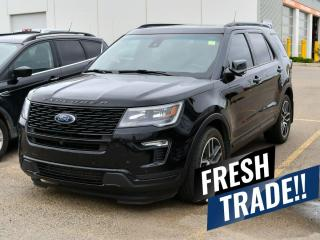 Used 2018 Ford Explorer SPORT AWD / 6-PASSENGER SEATING / TWIN PANEL MOONROOF / NAVIGATION / HEATED & COOLED FRONT SEATS / BACKUP CAMERA / REMOTE START & MUCH MORE!! for sale in Red Deer, AB