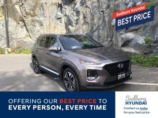 Used 2019 Hyundai Santa Fe Ultimate 2.0 One owner no accidents! for sale in Sudbury, ON