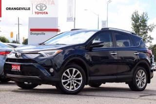 Used 2018 Toyota RAV4 Limited LIMITED, AWD, SUNROOF, HEATED SEATS, NAVIGATION, LANE KEEP ASSIST, ADAPTIVE CRUISE CONTROL for sale in Orangeville, ON