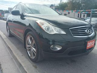 Used 2013 Infiniti EX37 AWD-LEATHER-NAVI-BK UP CAM-SUNROOF-BLUETOOTH for sale in Scarborough, ON