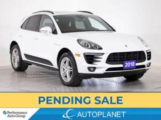 Used 2018 Porsche Macan S Premium Plus AWD, Navi, Pano Roof, Red Interior! for sale in Brampton, ON