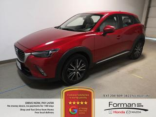 Used 2016 Mazda CX-3 GT|Rmt Start|Wtr Tires|Htd Leather|Navi|Loaded|AWD for sale in Brandon, MB