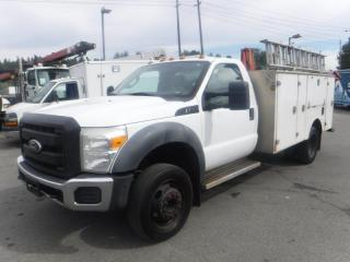 Used 2011 Ford F-550 Regular Cab 2WD Service Truck with Ladder and Crane for sale in Burnaby, BC