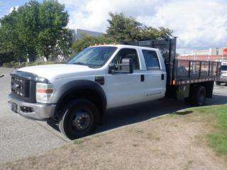 Used 2008 Ford F-550 Flat Deck 12 foot Crew Cab 4WD Dually Diesel for sale in Burnaby, BC