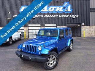 Used 2015 Jeep Wrangler Unlimited Sahara 4x4, Navigation System, Heated Seats, Remote Start, Bluetooth, Tow Hitch & More! for sale in Guelph, ON