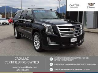 Used 2018 Cadillac Escalade ESV Platinum NAVIGATION - MOONROOF - ENTERTAINMENT PKG for sale in North Vancouver, BC
