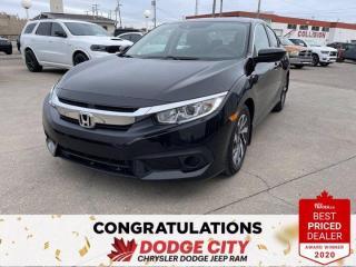 Used 2016 Honda Civic Sedan EX- Htd. Seats, Remote Start, Sunroof for sale in Saskatoon, SK