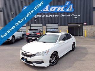Used 2016 Honda Accord Sedan Touring, Leather, Sunroof, Navigation, 19