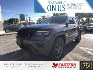 New 2021 Jeep Grand Cherokee 80th Anniversary Edition   0% Available   for sale in Winnipeg, MB