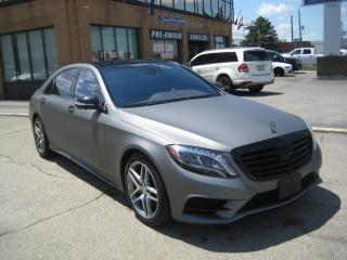 Used 2016 Mercedes-Benz S-Class S 550 4MATIC LWB AMG MATT GREY  SERVICE RECORDS for sale in North York, ON