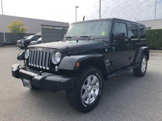 Used 2018 Jeep Wrangler JK Unlimited Sahara for sale in North Vancouver, BC
