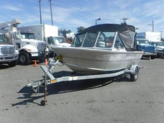 Used 2007 Alumaweld Talon 17 Foot Aluminum Fishing Boat with Canopy for sale in Burnaby, BC