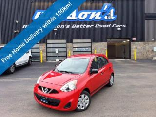 Used 2015 Nissan Micra SV Hatchback, Reverse Camera, Bluetooth, Power Package, Keyless Entry & Much More! for sale in Guelph, ON