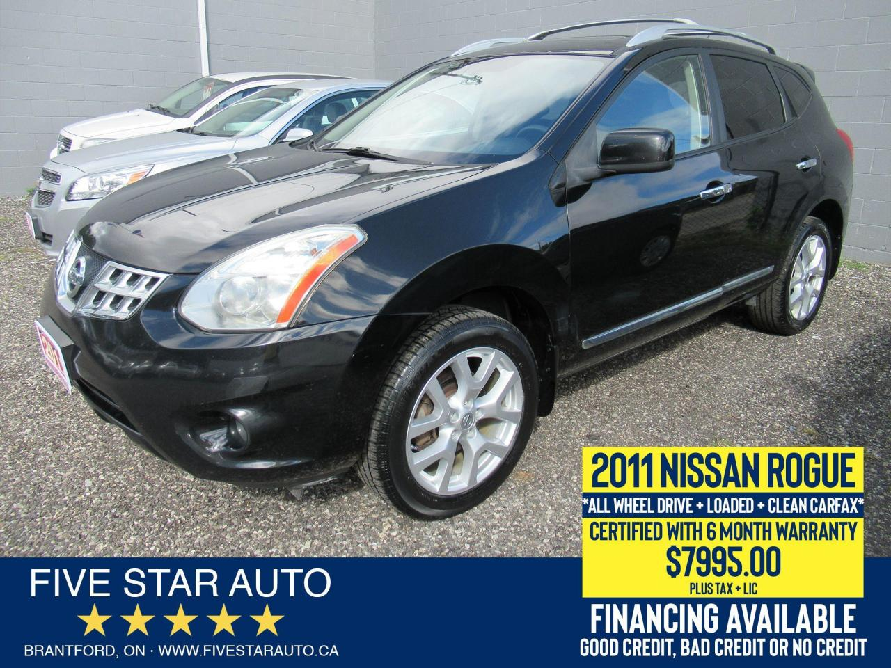 2011 Nissan Rogue SV AWD *Clean Carfax* Certified w/ 6 Mth Warranty