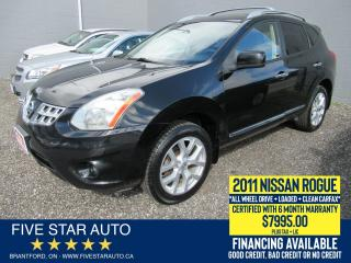 Used 2011 Nissan Rogue SV AWD *Clean Carfax* Certified w/ 6 Mth Warranty for sale in Brantford, ON