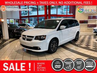 Used 2018 Dodge Grand Caravan GT - No Accident / Local / Nav / DvD / No Dealer fees for sale in Richmond, BC