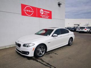 Used 2015 BMW 5 Series 528i xDrive / One Owner / Loaded / Leather / Rear Window Shades for sale in Edmonton, AB