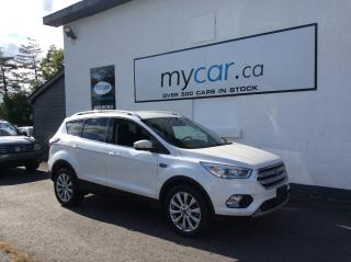 Used 2018 Ford Escape Titanium LEATHER. NAV. HEATED SEATS. BACKUP CAM. BLUETOOTH for sale in Richmond, ON