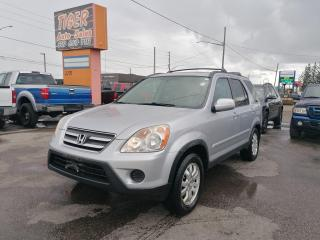 Used 2005 Honda CR-V EX-L*LEATHER*4 CYL*NEW TIRES*DRIVES GREAT*AS IS for sale in London, ON