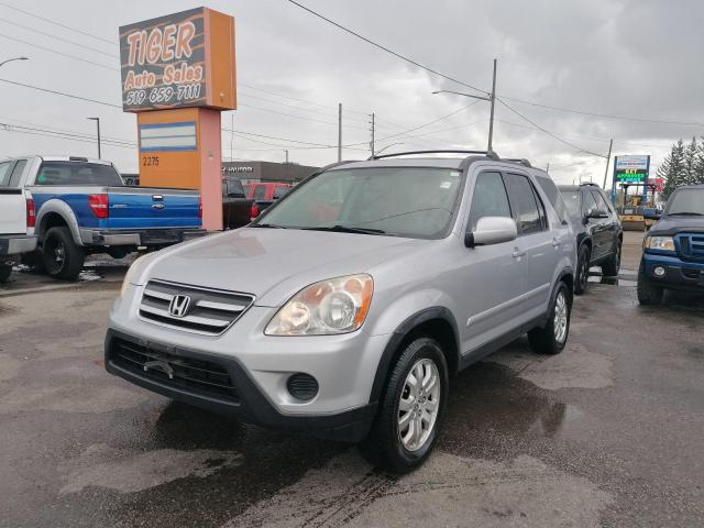 2005 Honda CR-V EX-L*LEATHER*4 CYL*NEW TIRES*DRIVES GREAT*AS IS