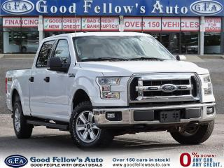 2016 Ford F-150 XLT MODEL, SUPERCREW, 6PASS, REARVIEW CAMERA, 4WD