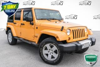 Used 2012 Jeep Wrangler Unlimited Sahara CLEAN CARFAX!! TOWING & DUAL TOP PACKAGE!! for sale in Barrie, ON