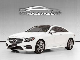 Used 2018 Mercedes-Benz E-Class E 400 4MATIC Coupe Red Interior , Intelligent Drive, Loaded for sale in Concord, ON