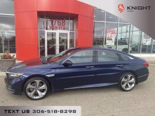 Used 2018 Honda Accord Sedan Touring l Local Trade l Leather l Heated/Cooled seats for sale in Moose Jaw, SK