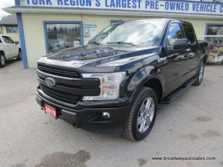 Used 2019 Ford F-150 LOADED LARIAT-SPORT-MODEL 5 PASSENGER 3.5L - ECO-BOOST.. 4X4.. CREW-CAB.. SHORTY.. NAVIGATION.. LEATHER.. HEATED/AC SEATS.. POWER PEDALS.. for sale in Bradford, ON