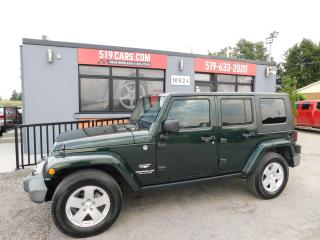 Used 2010 Jeep Wrangler Sahara | Leather | Both Tops | Newer Michelin Tire for sale in St. Thomas, ON