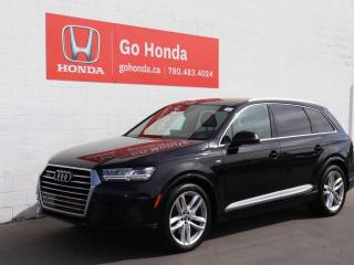 Used 2017 Audi Q7 TECHNIK, S LINE, NAVIGATION, PANO ROOF, LOADED! for sale in Edmonton, AB