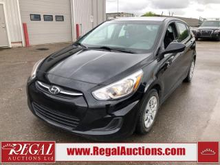 Used 2017 Hyundai Accent GL 4D Hatchback 1.6L for sale in Calgary, AB