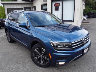 Used 2018 Volkswagen Tiguan HIGHLINE 4Motion - LEATHER! NAV! BACK-UP CAM! BSM! PANO ROOF! for sale in Kitchener, ON